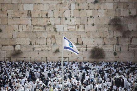 Des milliers de juifs au Mur des Lamentations à Jérusalem pour la Pâquejuive