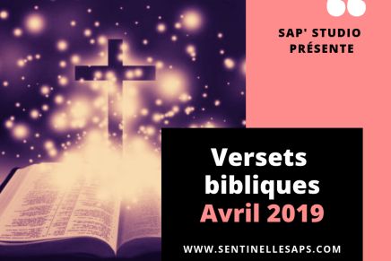 Versets bibliques d'avril2019