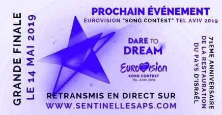 Prochain événement à suivre en direct sur le site: la grande finale du concours Eurovision2019