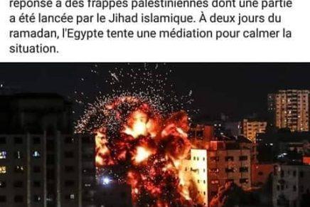 BFM TV ment : Ce n'est pas Israël qui a lancé 250 roquettes samedi, mais l'organisation islamiste Hamas qui a tiré 250 roquettes sur Israël!