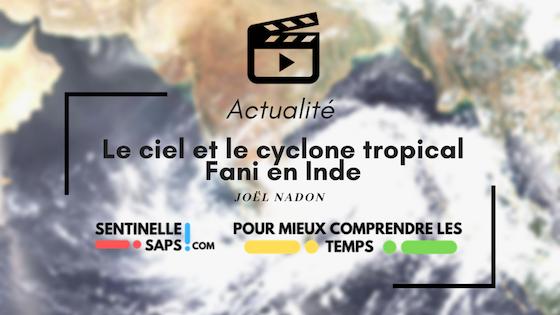 Le ciel et le cyclone tropical Fani enInde