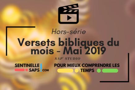 Versets bibliques du mois – Mai2019