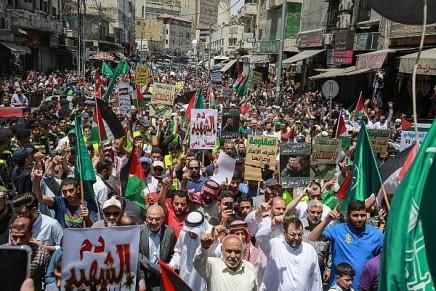 Jordanie: des centaines d'islamistes manifestent contre le plan de paix deTrump
