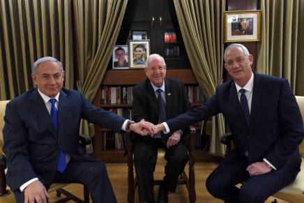 «Nous avons franchi une étape importante», estime Rivlin après une réunion tripartite avec Gantz etNetanyahou