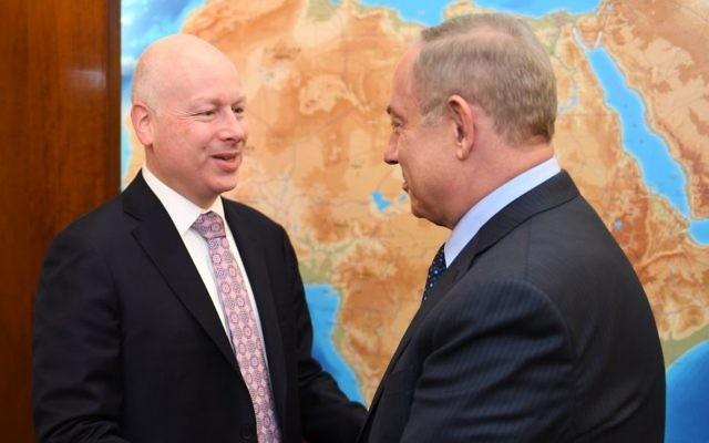 Greenblatt s'est entretenu vendredi avec Gantz et Netanyahu sur le «Deal of the Century»