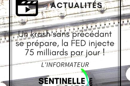 Un krash sans précédant se prépare, la FED injecte 75 milliards par jour!