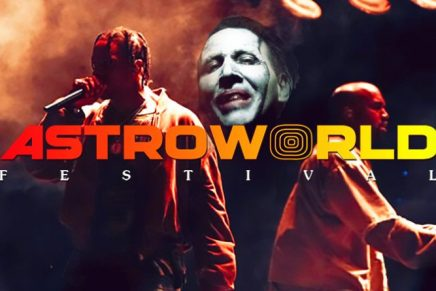 Kanye West se produit avec le sataniste Travis Scott au Astroworld 2019 durant lequel Marilyn Manson chantait « antichrist superstar » en brûlant la Bible