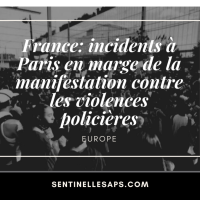 France: incidents à Paris en marge de la manifestation contre les violences policières